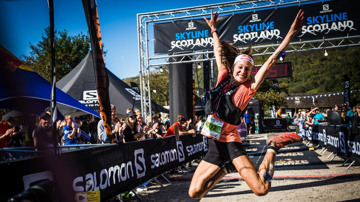 Salomon Ring of Steall - First Female - Judith Wyder - Finish Line 4 - Copyright No Limits Photography web
