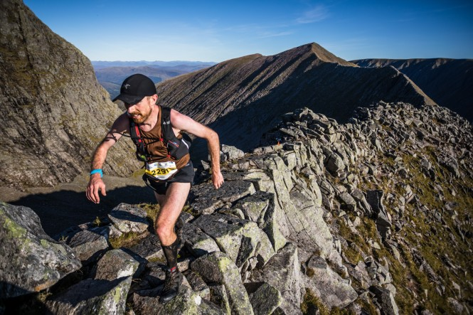 Salomon Ben Nevis Ultra - First Male - Murray Strain - Carn Mor Dearg Arete 1 - Copyright No Limits Photography