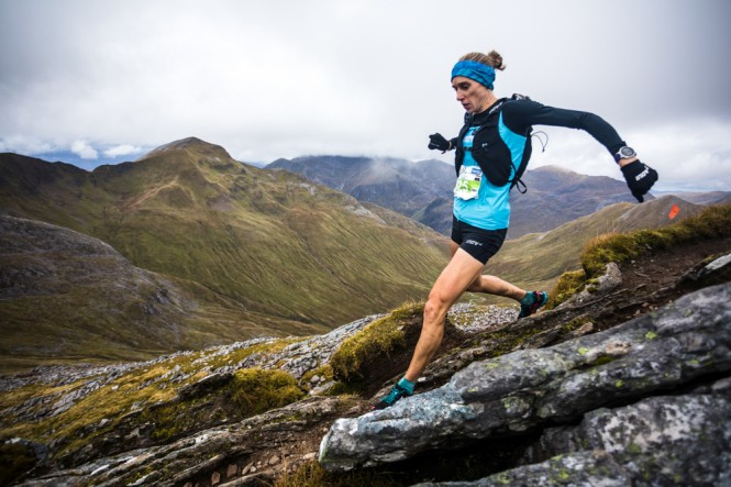 2nd Female - Victoria Wilkinson - decending Stob Coire a' Chairn