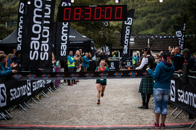 Salomon Glen Coe Skyline - First Female - Georgia Tindley 1 - Finish Line - Copyright No Limits Photography