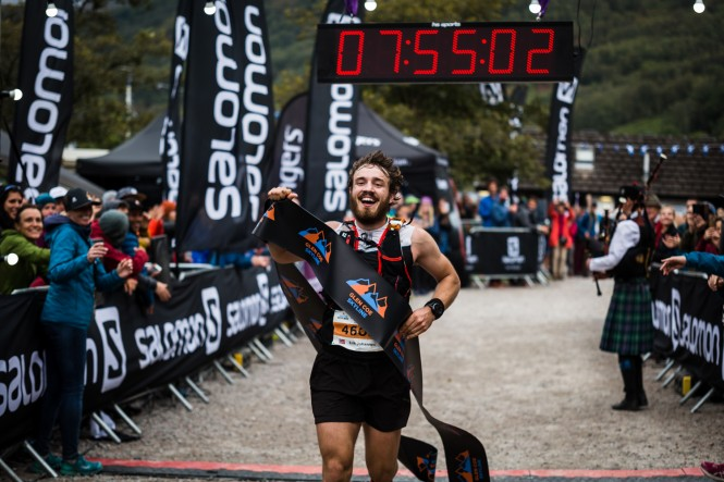 Salomon Glen Coe Skyline - First Male - Erik Johannes Husom 2 - Finish Line - Copyright No Limits Photography