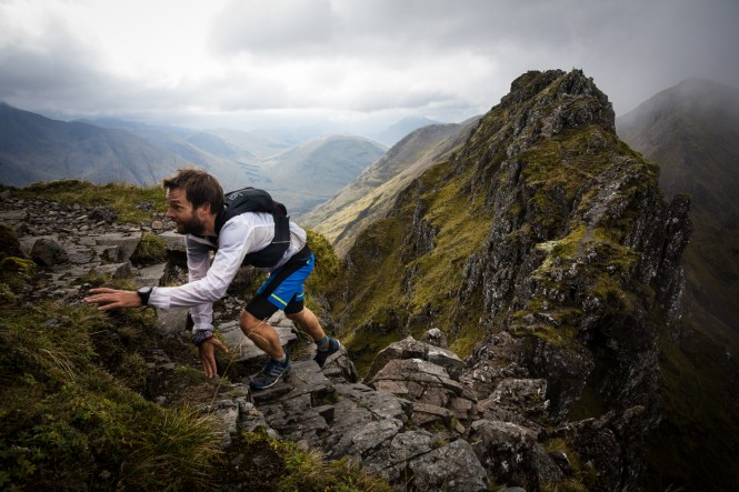 Salomon Glen Coe Skyline - Runner 1 - Aonach Eagach - Copyright No Limits Photography