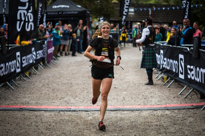 Salomon Glen Coe Skyline - Third Female - Megan Wilson 1 - Finish Line - Copyright No Limits Photography