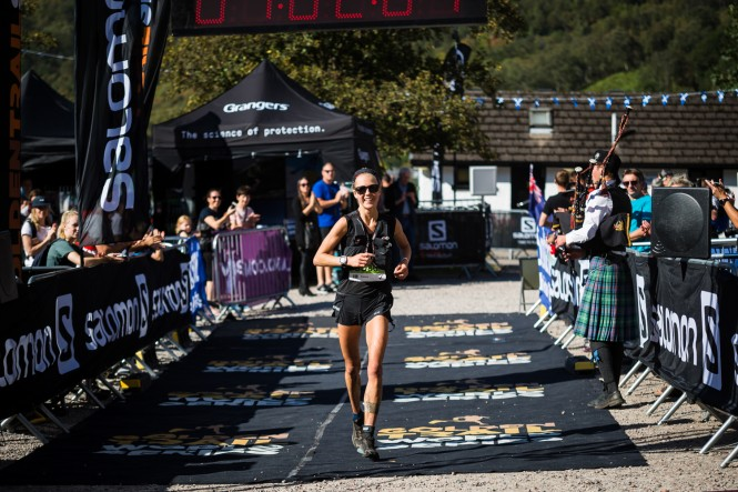 Salomon Ring of Steall - Third Female - Fanny Borgstrom - Finish Line - Copyright No Limits Photography
