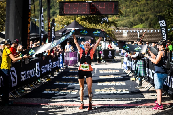 Salomon Ring of Steall - First Female - Judith Wyder - Finish Line 1 - Copyright No Limits Photography
