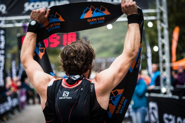 Salomon Glen Coe Skyline - First Male - Erik Johannes Husom 3 - Finish Line - Copyright No Limits Photography